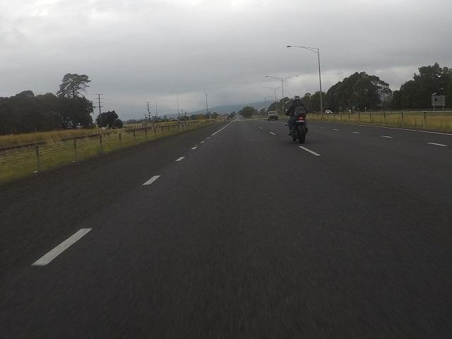 Gippsland - Peter passing me....