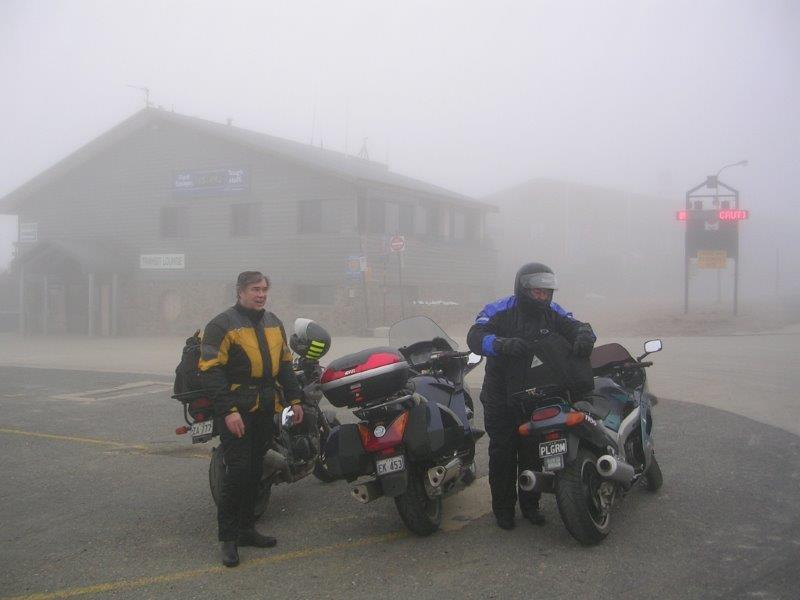 Peter found it more than a bit foggy atop Mt Hotham!