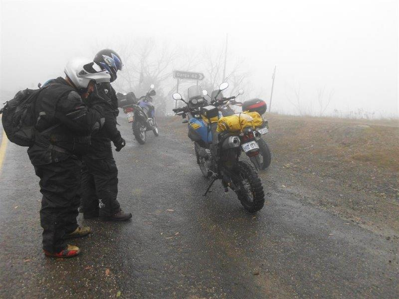 Where they encountered fog - we took two different routes in 2011