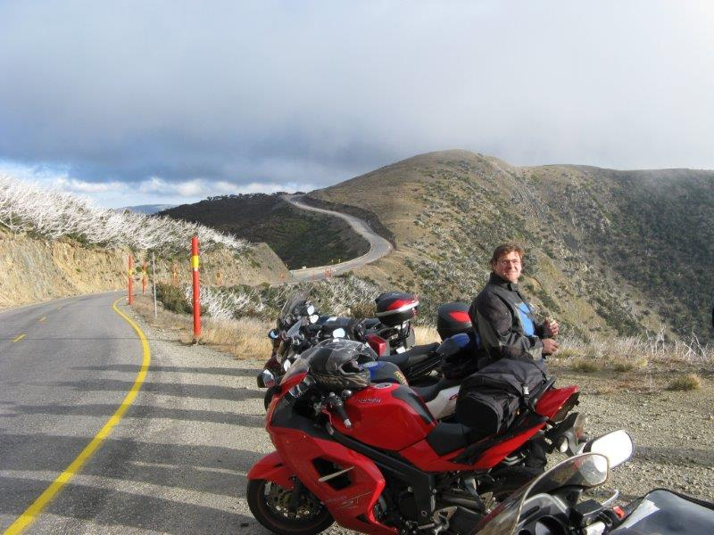 Scott also enjoying the view from Hotham