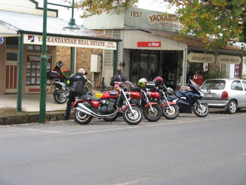 Lunch break was at Yackandandah