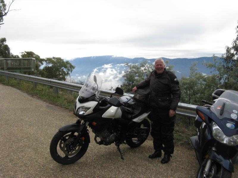 Nev at Tawonga Gap on way home 2013