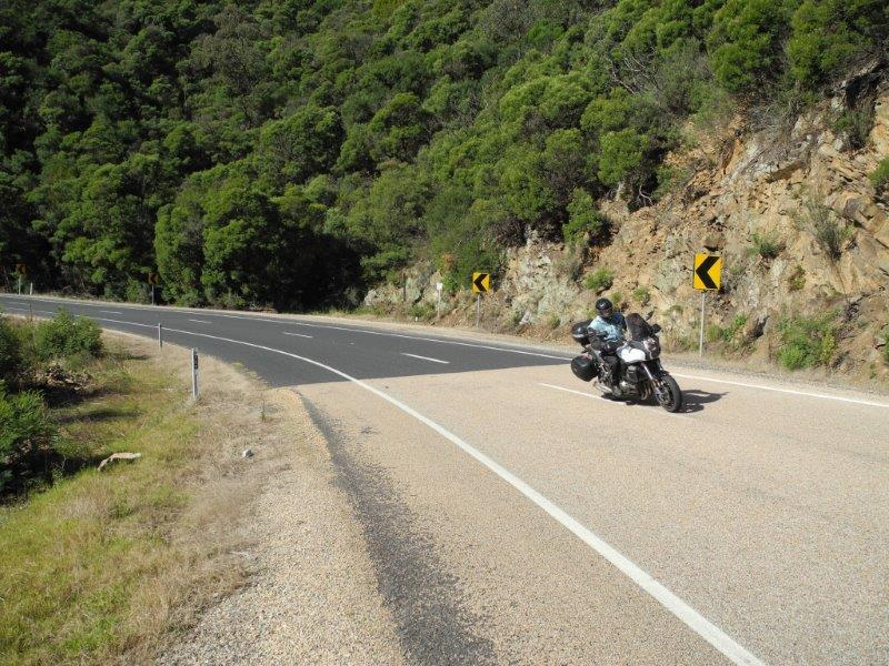 Heading north up The Great Alpine Road again