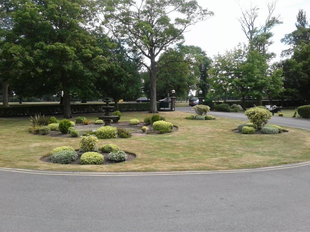 The gardens at the front of the venue