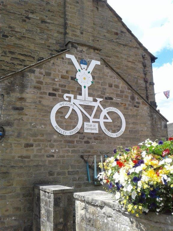 A nod to the Tour de France which started in UK a few years back