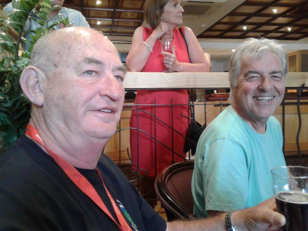 Enjoying an ale with Keith - my friend from Cornwall
