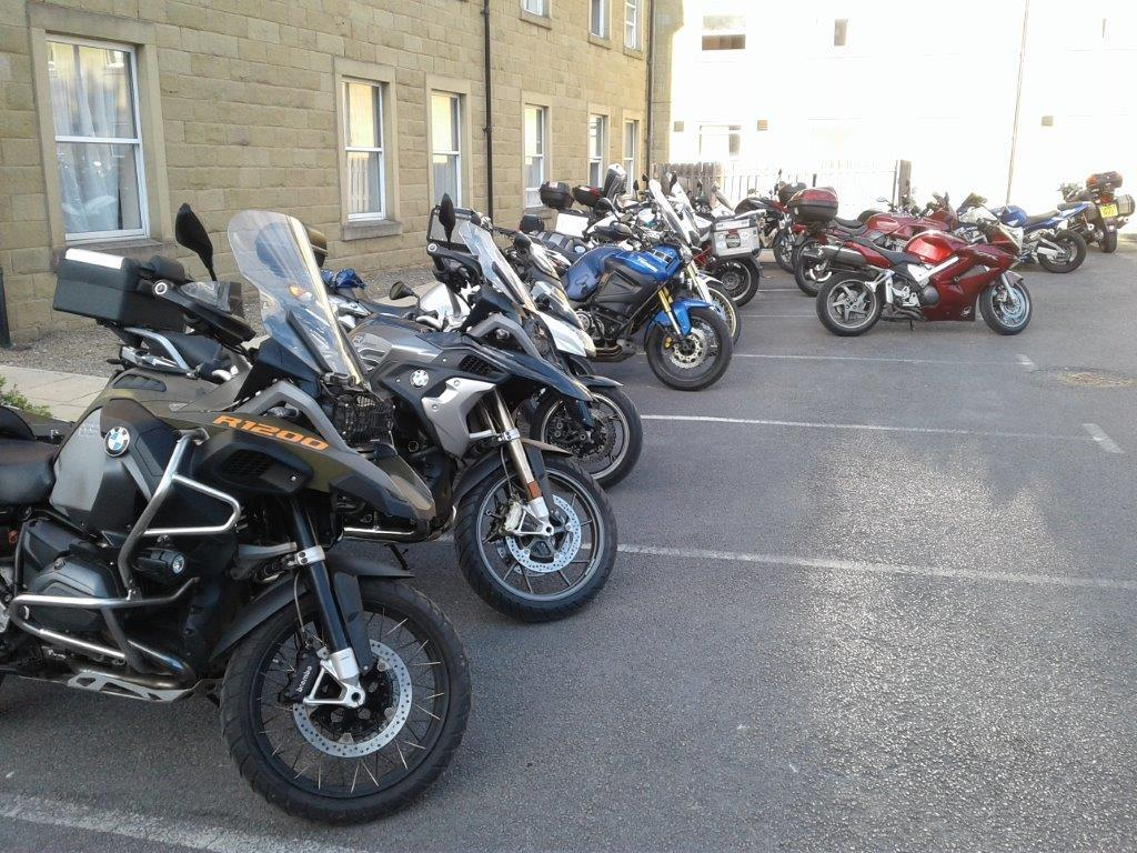 Some of the array of members bikes at Cedar Court Harrogate