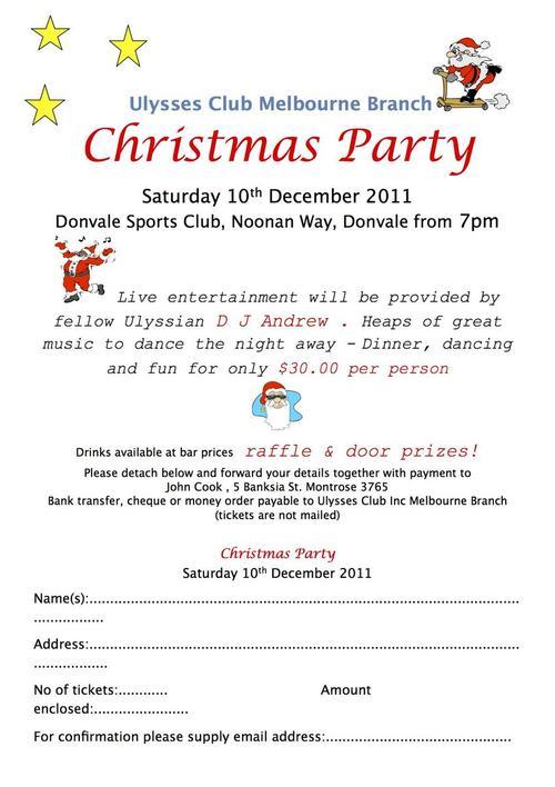 christmas flyer 2011